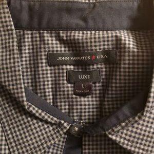 John Varvatos LUXE Short sleeve button down